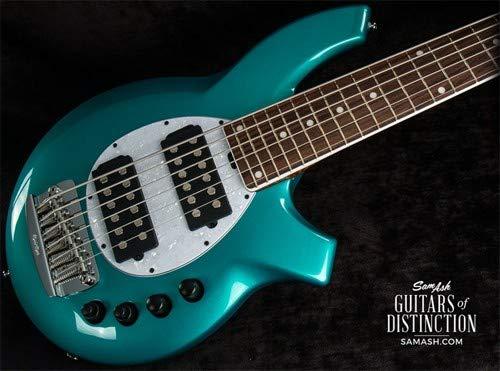 Ernie Ball Music Man Limited Edition BFR Bongo 6 6-String Electric Bass Guitar Grabber Green - Guitar Bass Bongo