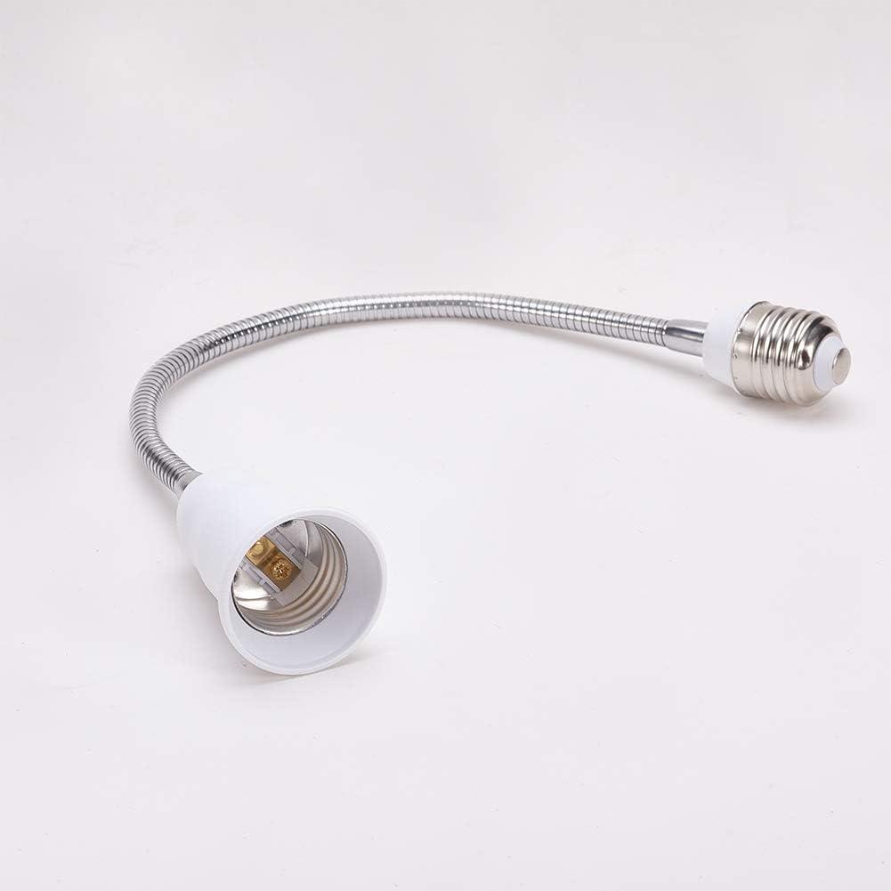 Othmro 1Pcs E27 to E27 Light Lamp Bulb All Direction Extension Adapter Extenders White Light Sockets PET 30cm Length AC 100-240V