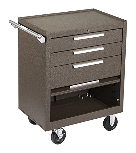 Kennedy Manufacturing 273Xb 27'' 3-Drawer Industrial Tool Storage Roller Cabinet With Chest And Wheels, Tan Brown Wrinkle by Kennedy Manufacturing