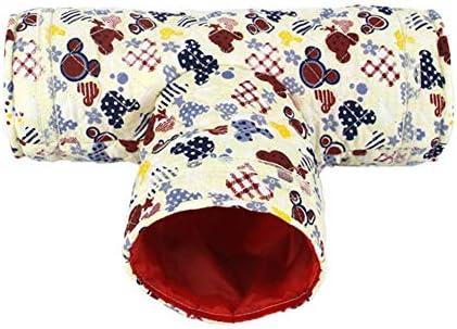 ハムスタートンネル小さいペット巣隠れ家ベッド3チャンネル動物チューブ おもちゃ
