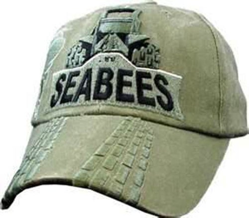U.S. Navy Seabees Bulldozer OD Green Ball Cap