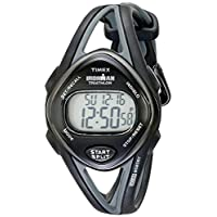 Timex - T5K039 Ironman Sleek 50 Correa de resina negra de tamaño mediano para mujer