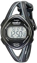 Timex Women's T5K039 Ironman Sleek 50 Mid-Size Black Resin Strap Watch