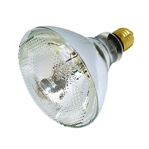LUCKY HERP 100 Watt UVA UVB Mercury Vapor Bulb Self-Ballasted UV Heat Lamp/Bulb/Light for Reptile and Amphibian (100W CLEAR)