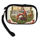 California State Coat Of Arms Deluxe Printing Small Purse Portable Receiving Bag