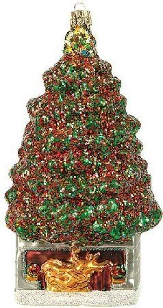 Rockefeller Center Christmas Tree Polish Glass Ornament -