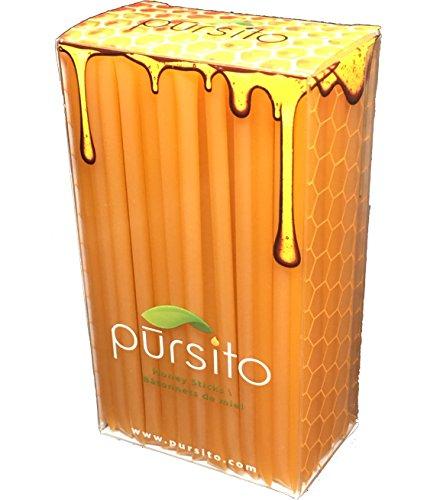 - Peach Honey Sticks 100 Flavored Bulk Honey Stix Gift Box or Honey Straws Honey Stick for Tea, Coffee or Snacking Pursito Brand Honeystix