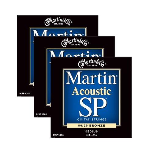 Rich Bronze Series (Martin Msp3200 Medium Acoustic Sp Guitar Strings 3 Packs)