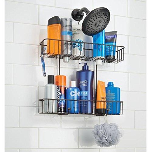 Mdesign Extra Wide Bathroom Tub Shower Caddy Hanging Storage