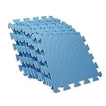 SODIAL(R) EVA Puzzle Foam Anti-Fatigue Blue Interlocking Floor Mats