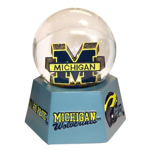NCAA Michigan Wolverines Logo Musical Snow
