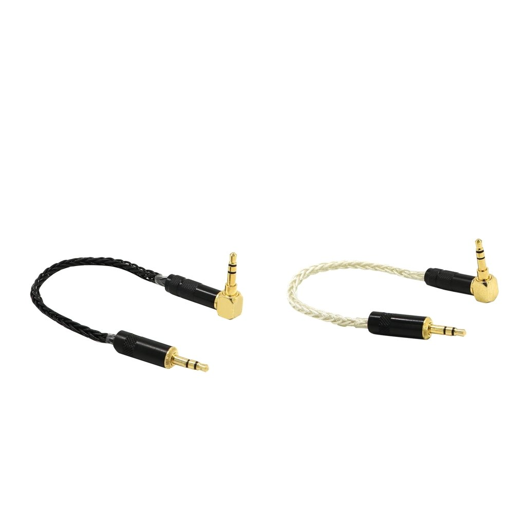 Baosity 2 Pieces 3.5mm Auxiliary Audio Jack to Jack cable for iPhone, iPod, iPad, Samsung,Smartphones & Tablets and Speakers,24K Gold Plated 90 degree Male to Male (0.2m)