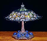 "Meyda Lighting 49869 26.5""H Tiffany Peacock Feather Table Lamp"
