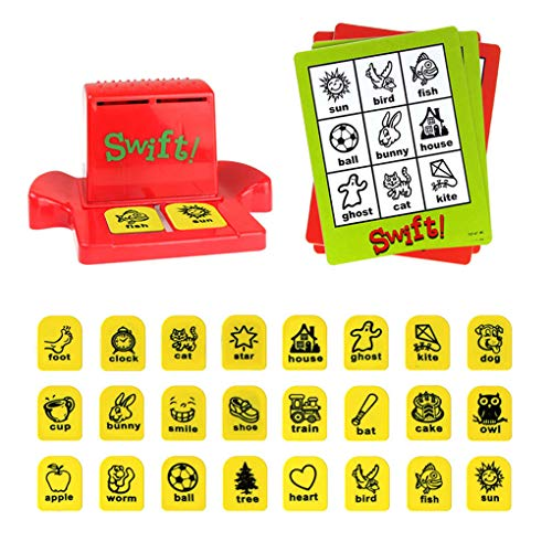Gloryelenxs Time-Telling Board Game Funny Bingo Style Entertainment for Children Intelligent Multiplayer Toy ()