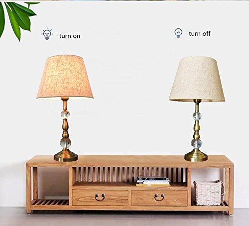 MTBHW American Retro Crystal Lamp Table Lamp Bedroom Bedside Lamp European Luxury Table Lamp by MTBHW (Image #1)