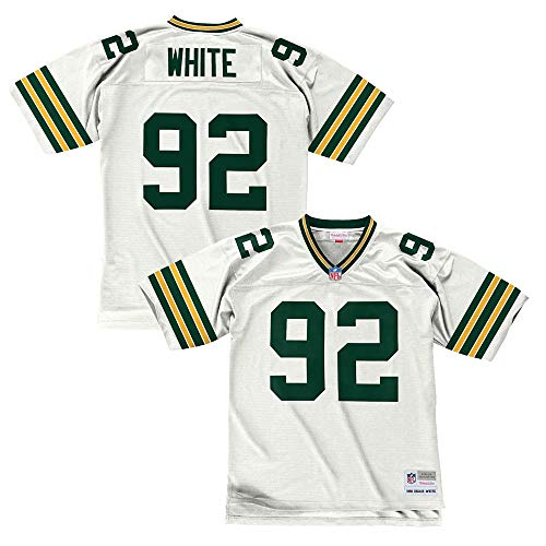 Reggie White Green Bay Packers White 1996 Mitchell & Ness Throwback Jersey (L) ()