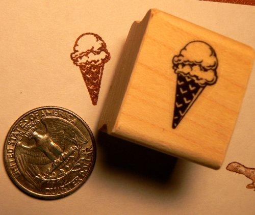 Miniature Ice cream cone rubber stamp P24 (Rubber Stamp Ice Cream compare prices)