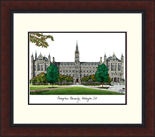 Campus Images ''Georgetown University Legacy Alumnus Framed Lithographic Print