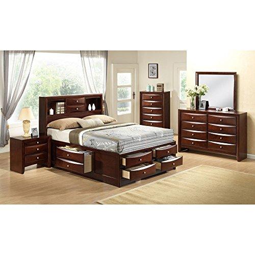 Cambridge 98126A5Q1-CH 5 Piece Orleans Storage Bedroom Suite