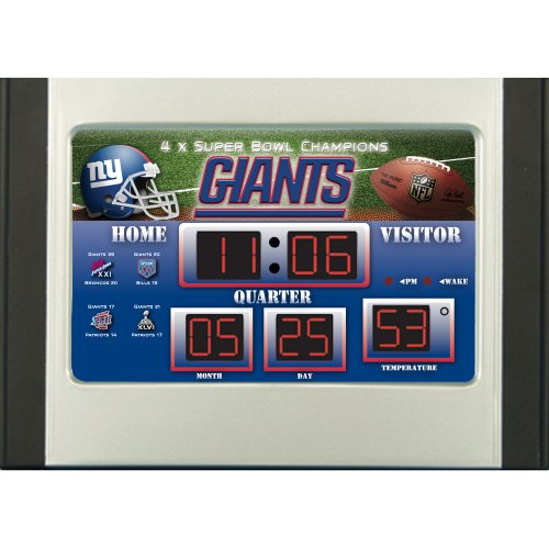 New York Giants Scoreboard Desk Clock