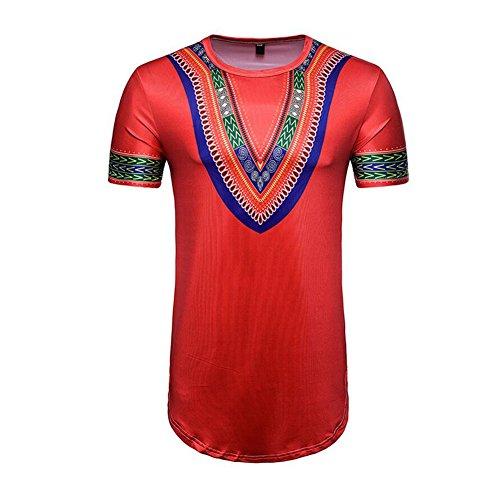 おいしい否定するええLoom Men'sヘビーコットンTシャツの半袖TシャツTシャツMen's Wear
