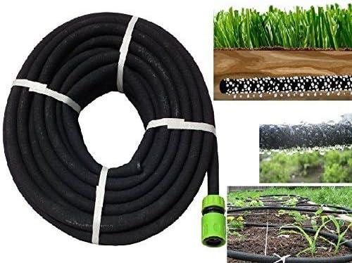 Nueva 30 M ECO Tubo de manguera de remojo porosa césped equipos de riego riego jardín: Amazon.es: Jardín