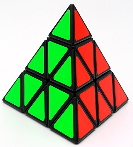(TANCH YJ Pyramid Speed Cube 3X3 Triangle Magic Cube Puzzle Toy Black )