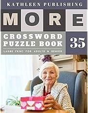 Crossword Large Print: Crossword Variety | More Crosswords Quiz for beginners Large Print for adults & senior | grandma design