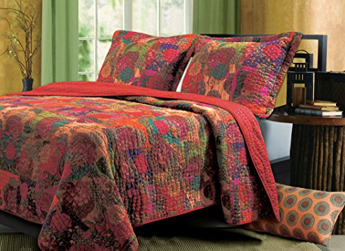 Greenland Home Jewel Quilt & Sham Set, 3-Piece Full/Queen