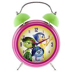 Disney Inside Out Quartz Twin Bell Light-Up Musical Bank Alarm Clock