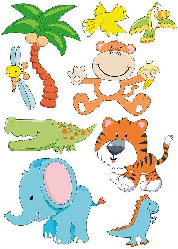 infactory Tierisch lustige Wandtattoos fürs Kinderzimmer