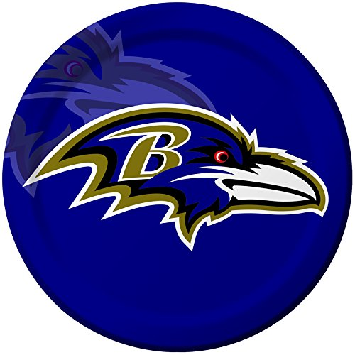 Baltimore Ravens Dinner Plates - Creative Converting 8 Count Baltimore Ravens Paper Dinner Plates