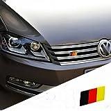 JessicaAlba® Generic German Flag Grille Emblem Badge Decal Sticker For VW Volkswagen GOLF Jetta SCIROCCO TIGUAN Beetle Bora CC Eos Gol Golf GTI Passat Polo Tiguan Touareg R32