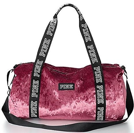 b4c112e857 Amazon.com  VICTORIA SECRET PINK VELVET DUFFLE TOTE BAG VELOUR  Everything  Else