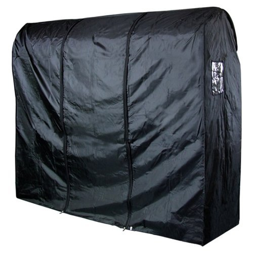 Hangerworld Single Black Waterproof Nylon 6ft Garment Rack Cover - Double Zip for Easy Access - Great Clothes - Clothes Rail Black