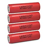 4 LG HE2 18650 2500mAh 35A 3.7v Rechargeable Flat Top Batteries