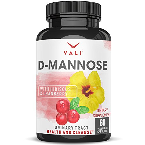 D Mannose 1000 mg Urinary Tract Infection Formula - Triple Strength Organic Cranberry 50:1 Concentrate & Hibiscus - Healthy Bladder Function, Natural Yeast Cleanse, UTI Support - 60 Veggie Capsules (Best Medicine For Infection)