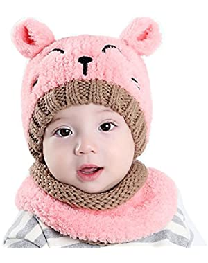 Clearance! Baby Knit Hats, Baby Boy Girls Warm Cute Knit Bear Hat Toddler Kid Winter Crochet Beanie Cap