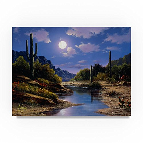 Mountain Scene 6 by Anthony Casay, 24x32-Inch Canvas Wall Art Cactus Scene Wall Art