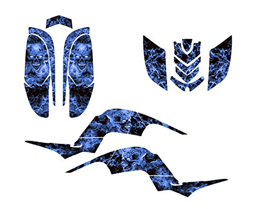 Yamaha Raptor 660 Graphics Decal Kit by Allmotorgraphics NO9500 Blue Zombie Skull Yamaha Raptor Ebay