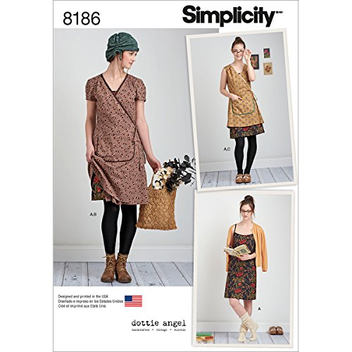 Simplicity 8186 Frock and Slip Dress Sewing Pattern for Women by Dottie Angel in Sizes D5 (4-12) ()