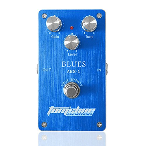 AROMA ABS-1 Blues Distortion Electric Guitar Effect Pedal True Bypass with Aluminum Alloy Housing Blue