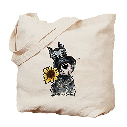 CafePress Sunflower Schnauzer Natural Canvas Tote Bag, Cloth Shopping Bag