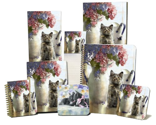Legacy Magnetic Shopping List Pad, Pitchers and Kitten