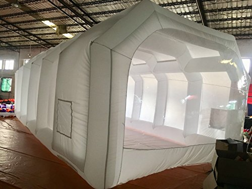 th Custom Tent Car Paint Booth Inflatable Car (White) ((26x13x10Ft)) ()