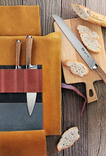 Cangshan H1 Series 59939 4 Piece Leather Roll Knife Set, Silver by Cangshan (Image #4)