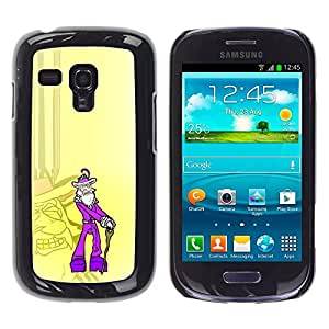 Stuss Case / Funda Carcasa protectora - Purple Old Pimp - Funny - Samsung Galaxy S3 MINI 8190