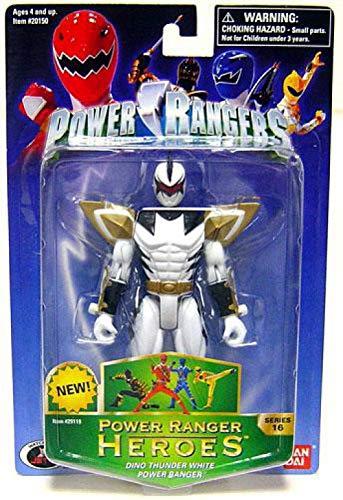 (Power Rangers Heroes Dino Thunder Series 16 Action Figure White Ranger)