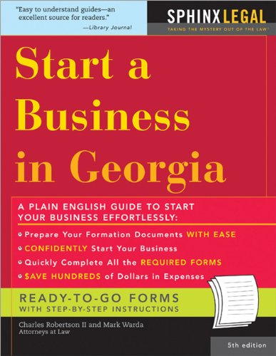 Download How to Start a Business in Georgia (Legal Survival Guides) pdf