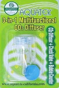 AQUATEK 3-in-1 CO2 Diffuser &Bubble Counter Check Valve (Small)